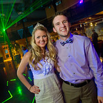 12-086 -- Homecoming Queen Sarah Walding '13 and King Kevin Carey '13 pose on the dance floor.