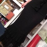 Ralph Lauren black linen ruffle skirt from tag sale in Wantagh