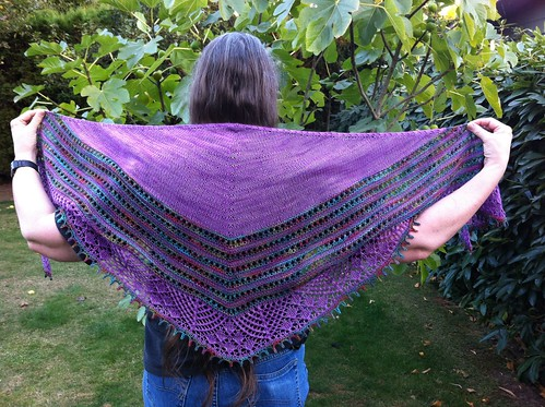 First Suki shawl by BlueDragon2