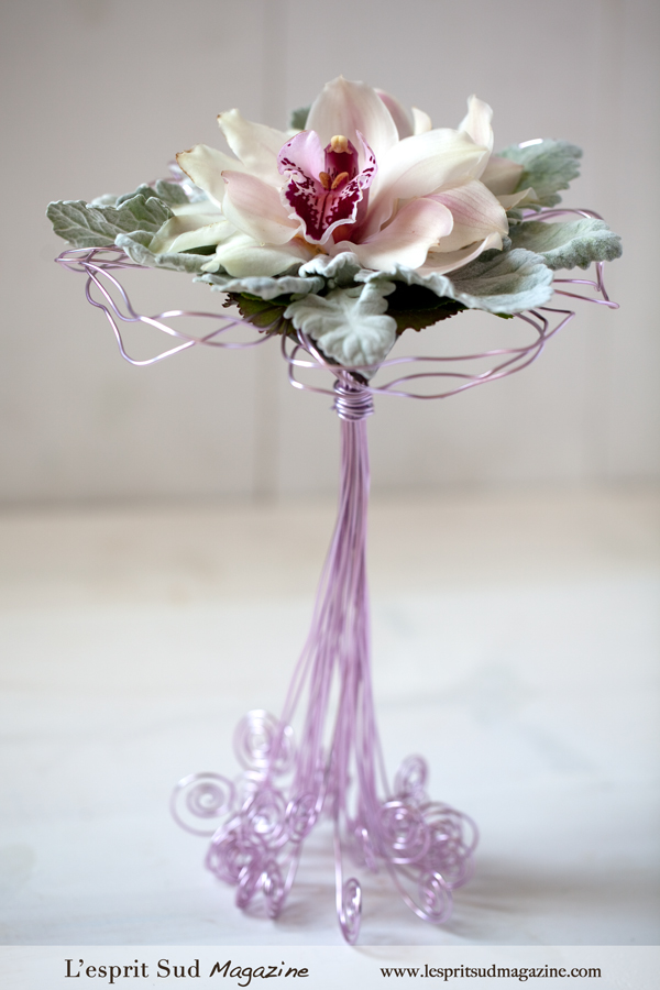Wedding bouquet with wire armature - Part II