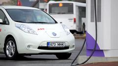 automobile, vehicle, nissan leaf, electric car, city car, land vehicle,