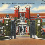 Main entrance and administration building, Florida State University, Tallahassee, Fla.