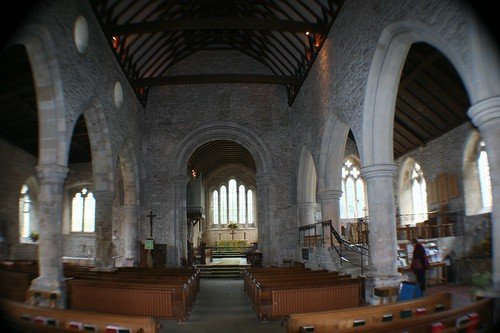 Nave of Bosham Church, England