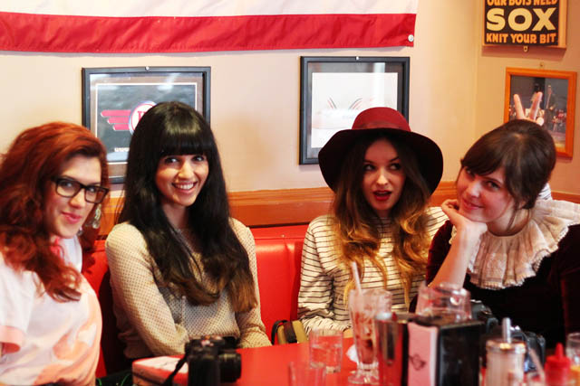 bloggers in a 50s diner