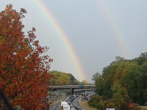 Rainbow over I-66 near EXIT 67 - 2