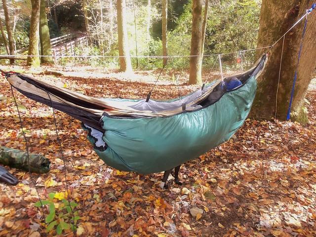 old sleeping bag be es new underquilt  rh   hammockforums
