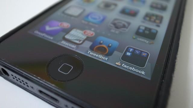 iPhoneホームボタンアップ