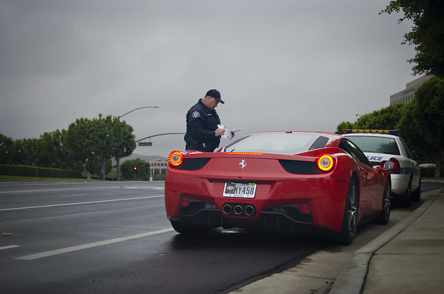 Ferrari 458 Italia Pulled Over by the Police from Flickr via Wylio
