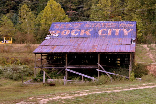 Dual-sided Rock City Barn near Robbinsville, NC