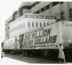 1M Display - Arrival of trucks on 04-18-1962 at display building