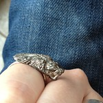 tiger ring from yard sale in Mineola