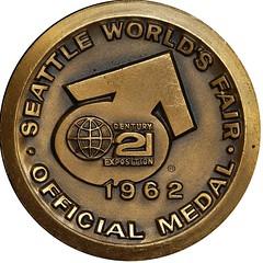 Whitman Century 21 medal reverse