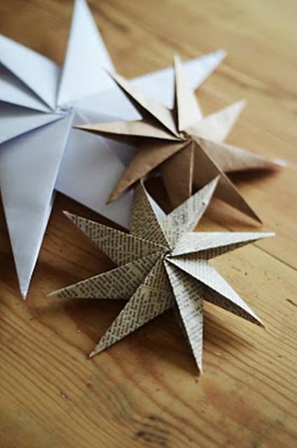 decorar con estrellas de papel (2)
