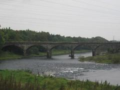Bridge over the Eden. Waterlevels high.