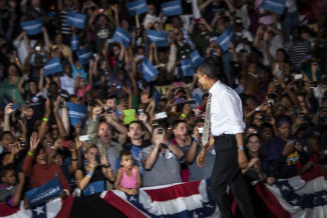 Obama Rally Cleveland, Ohio October 25, 2012