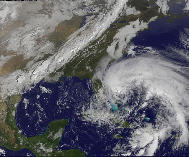 "NASA Sees Hurricane Sandy as the ""Bride of Frankenstorm"" Threaten U.S. East Coast"