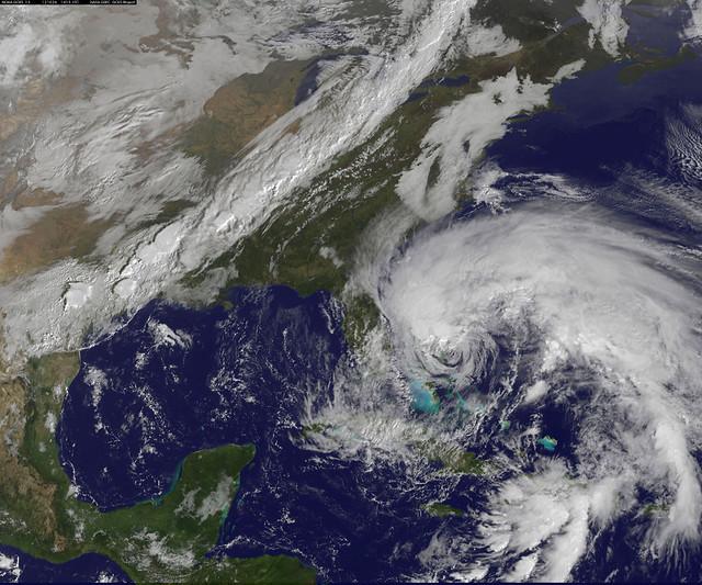 "NASA Sees Hurricane Sandy as the ""Bride of Frankenstorm"" Threaten U.S. East Coast"
