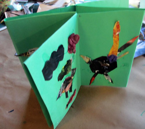 Bird book collage