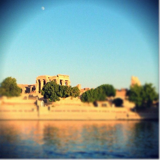 It's already #moonrise on #komombo #temple when #feddya leaves the port to reach the next #destination -   nile #cruise #feddya #staymovenpick @storytravelers #history #culture #art #travel #all_shot #instagramhub #igoftheday #primeshots #instamood #photo