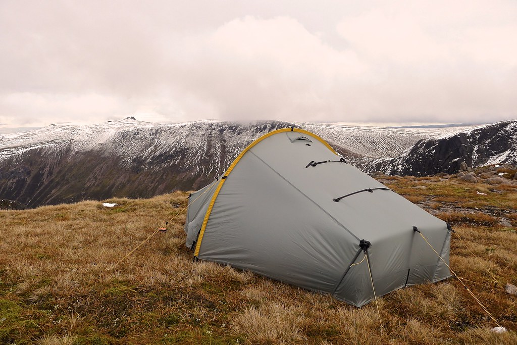 Wild camping with Ben Avon beyond