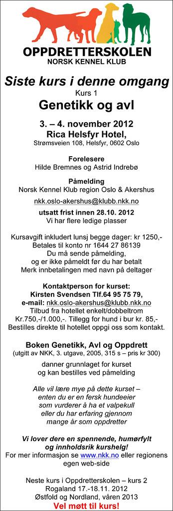 Oppdretterskolen NKK, kurs 1 genetikk og avl 8127208478_1e82eab3b5_b