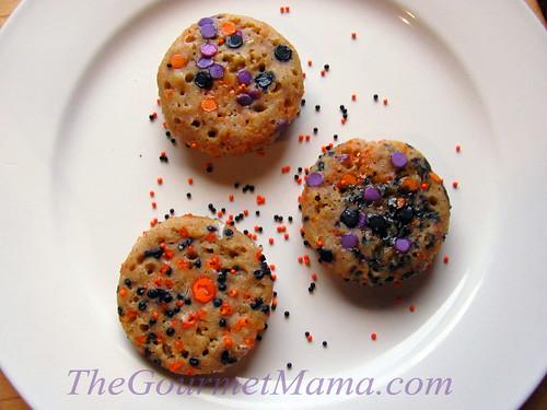 Baked Halloween Pumpkin Pancake Bites