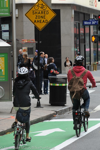 Broadway protected bike lane and plazas-39