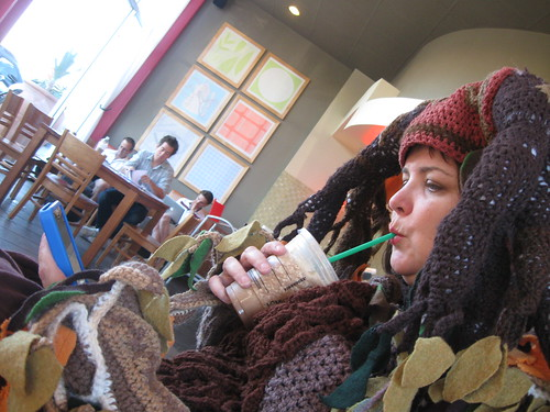 Tree Costume, at Starbucks