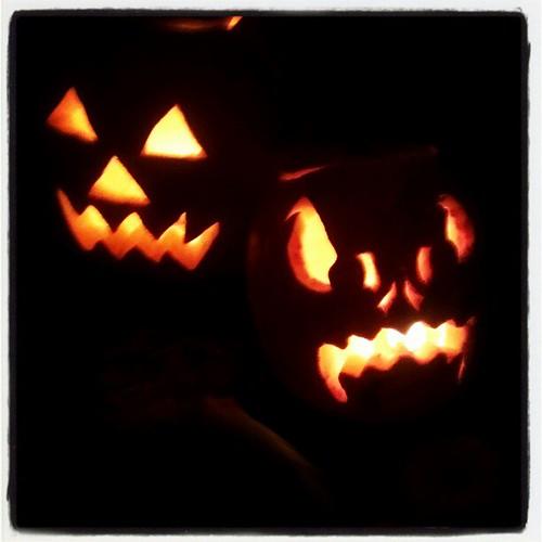 Our jack-o-lanterns!