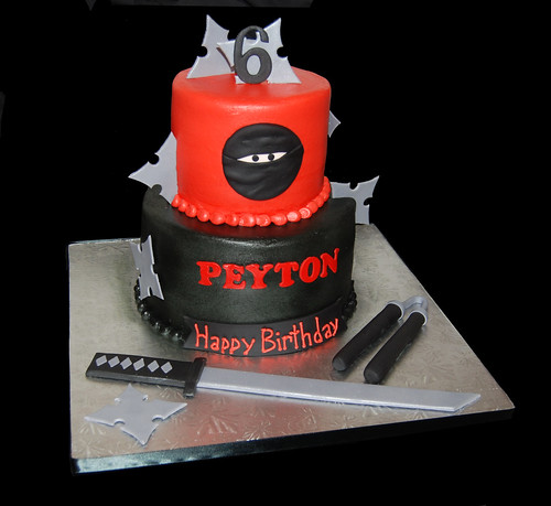 Ninja 6th Birthday Cake for a Halloween Costume Party