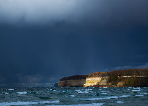 Rainstorm and Sunlight on Pictured Rocks