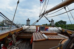 Looking aft from the helm