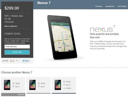 Nexus 7 32GB with HSPA+