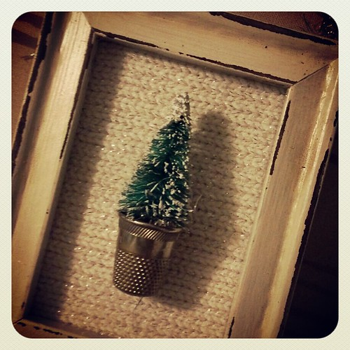 Tiny little tree in a vintage thimble by thefarmerswifeiniowa