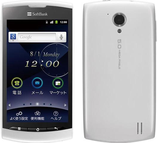 シンプルスマートフォン 008Z 実物大の製品画像