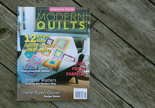 Modern Quilts Unlimited - Premier Issue, Fall 2012