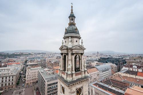 Vistas de Budapest desde el mirador de la Cúpula de San Esteban