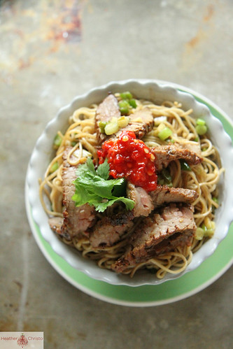 Ginger Scallion Noodles with Spicy Beef