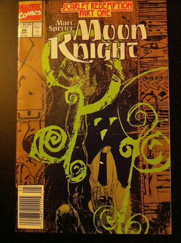 Moon Knight #26 Cover 'Scarlet Redemption' Part 1 - 1991