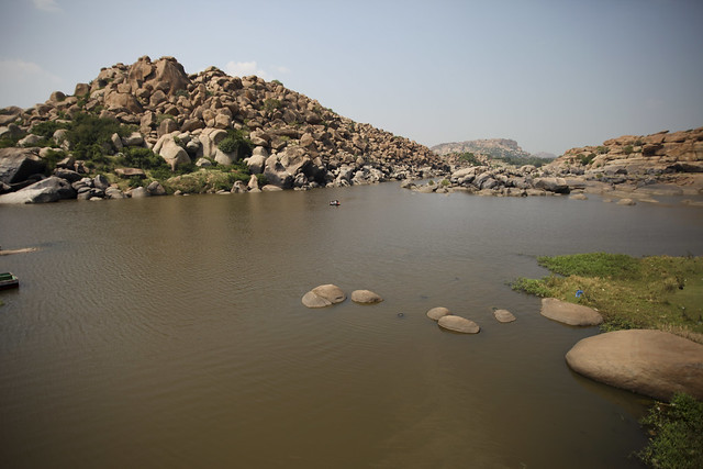 Hampi boulders and river