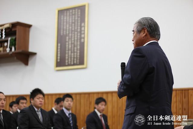 全剣連設立60周年記念 第60回全日本剣道選手権大会、選手打合せ会