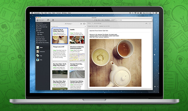Beta de Evernote 5 para Mac disponible