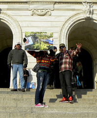 Protest against the tar sands pipeline at the Minnesota state capitol