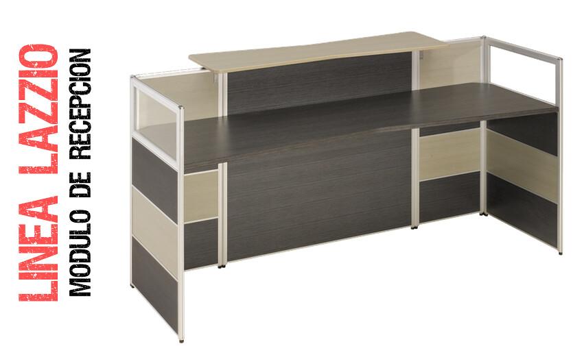 Modulo de recepci n lazzio mdf mobiliario oficinas gris bs for Modulos de oficina precios