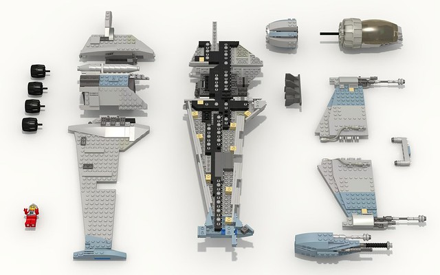 Moc Minifig Scale B Wing With Instructions And Ldd Lego Star