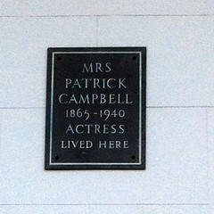 Photo of Mrs. Patrick Campbell grey plaque