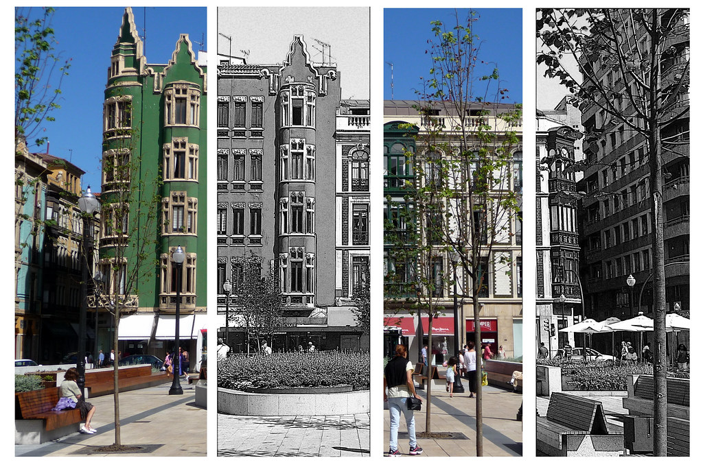 Gijón: una plaza