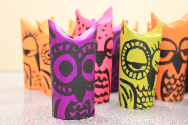 Paper Tube Owls 1