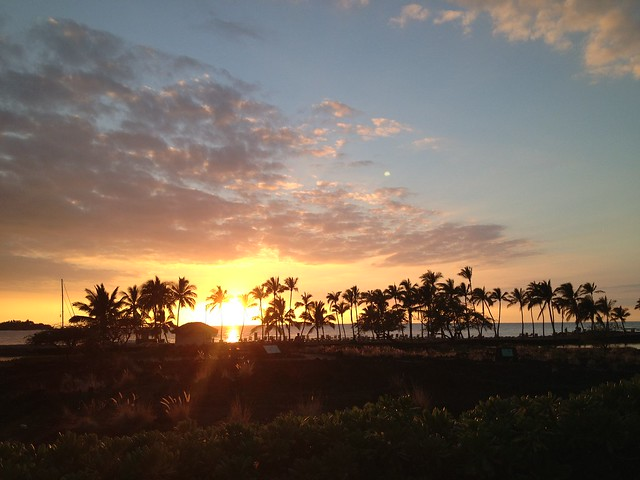 Sunset at Anaeho'omalu Bay