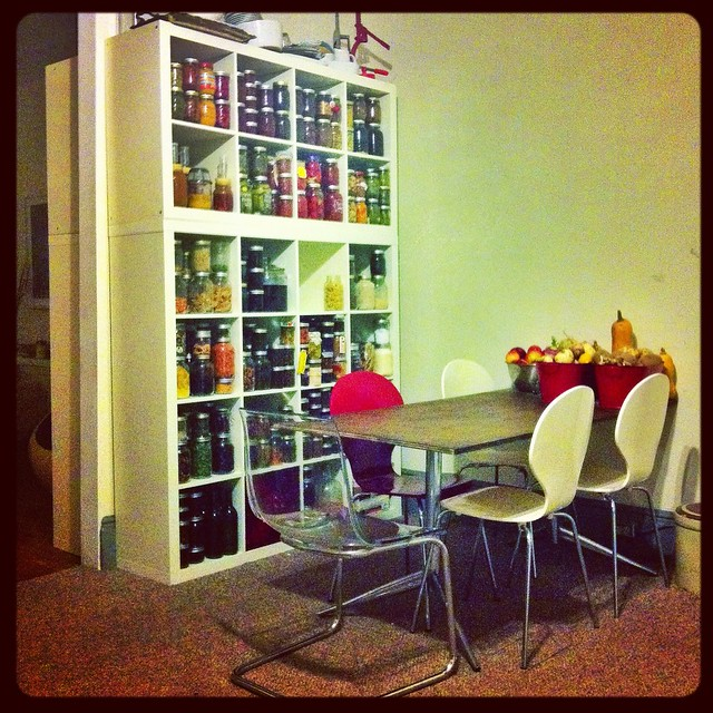 Winter 2012 Update on The Great Wall of Preserving well preserved shelf of preserves